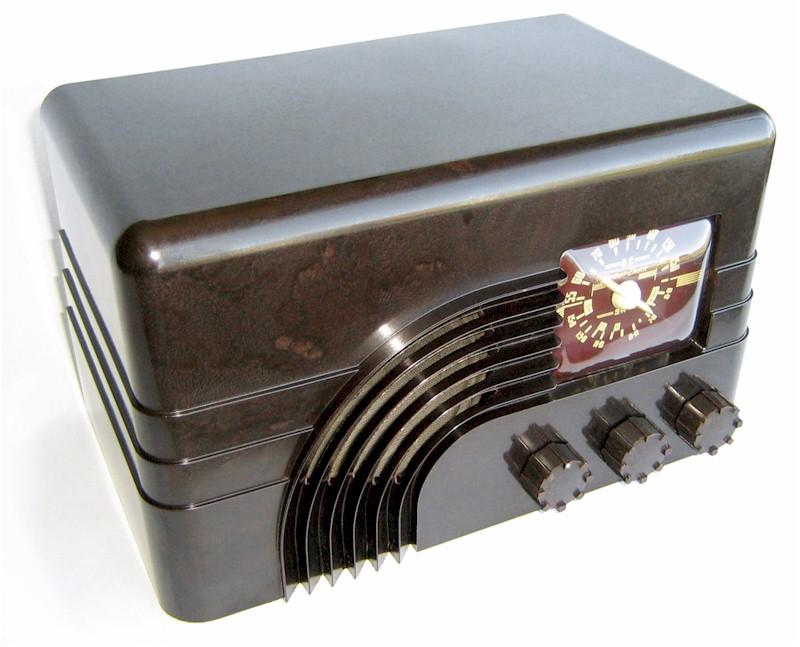 A Northern Electric bakelite radio bakelite